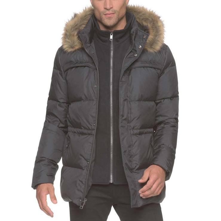 Marc New York Mens Quilted Jacket In Jet Black Medium Costco Uk