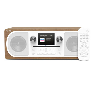 Pure Evoke C-F6 DAB Digital, FM and Internet Radio with Bluetooth in Walnut