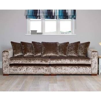 Parq 4 Seater Scatter Back Sofa in Truffle Crushed Fabric