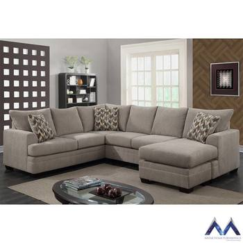 Fiona 3 Piece Sectional Sofa with 3 Accent Pillows