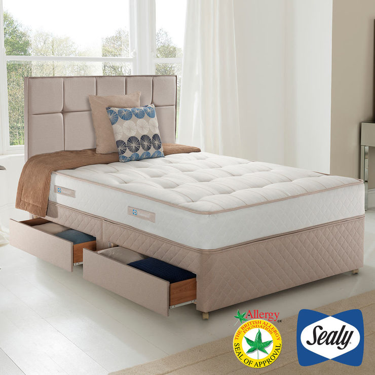 Sealy Posturepedic Backcare Ortho Divan Set, Double Mattress + Divan