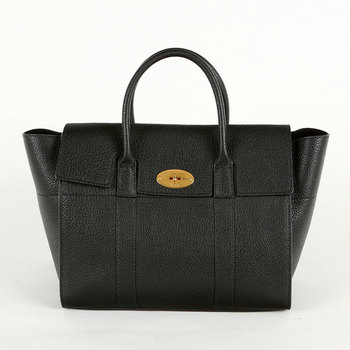 Mulberry Small Black Classic Bayswater With Strap