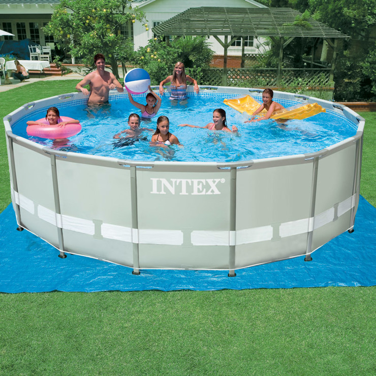 Intex 16 x 4ft 48 x 12M Circular Ultra Frame Metal Pool Sand