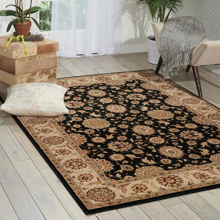 Persian Influenced Rug In Black