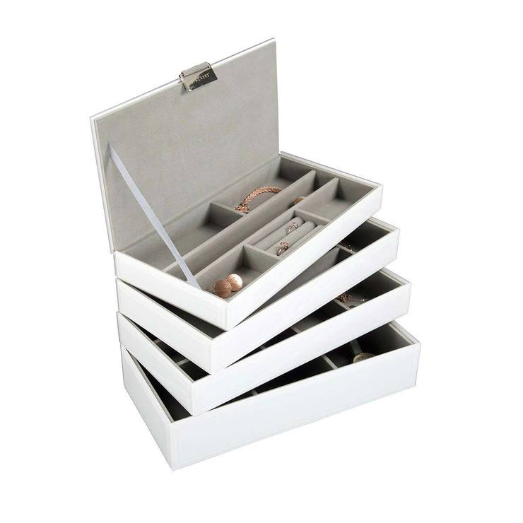 b32e856d6b89 Stackers White Glass Set of 4 Jewellery Box | Costco UK