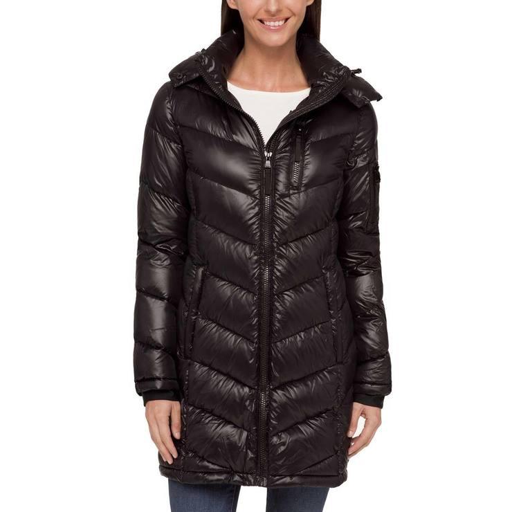 a343ac3620e Andrew Marc Women s Long Packable Jacket