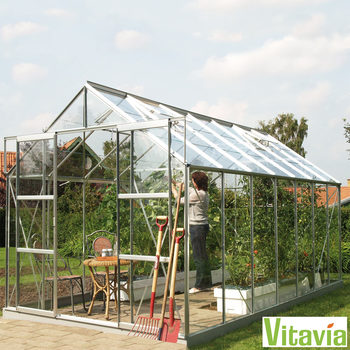 "Installed Vitavia Oregon 9900 8ft 4"" X 12ft 4"" (2.6 x 3.8 m) Greenhouse Package"