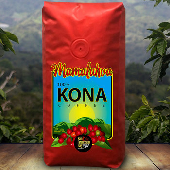 San Francisco Bay Mamalahoa 100% Hawaiian Kona Whole Bean Coffee, 454g