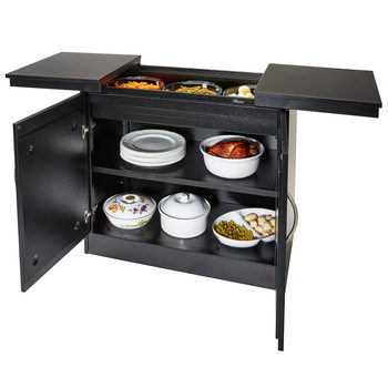 Hostess Heated Trolley with Black Laminate Finish, HL6236BL