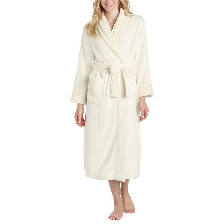 5119d8f305 Carole Hochman Women s Plush Robe in Ivory