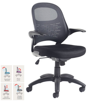 Orion Fabric Mesh Operator Chair, Black