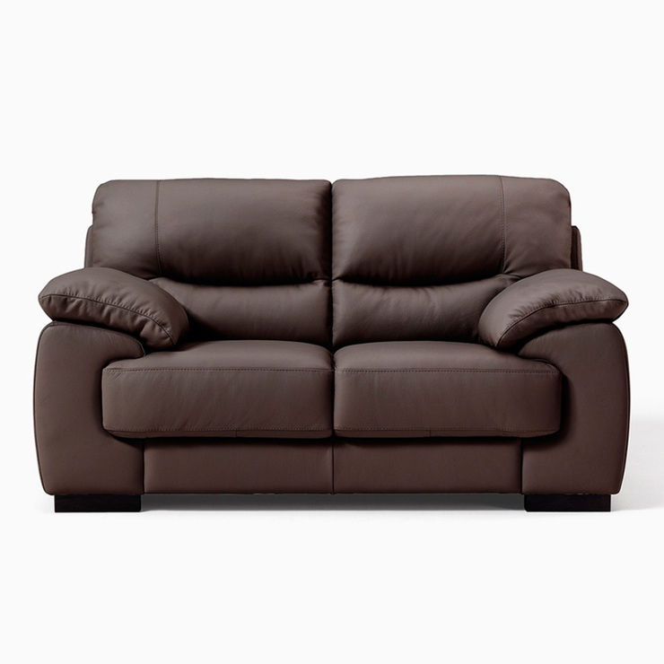 Latina 2 Seater Italian Leather Sofa In Brown Costco Uk