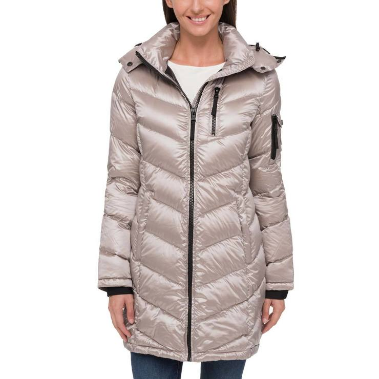 8cf70f36c Andrew Marc Women's Long Packable Jacket, Pearlised Thistle - Extra Large