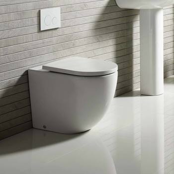 Tavistock Orbit Rimless Back To Wall Toilet with Soft Close Seat -  Model WCBW250S