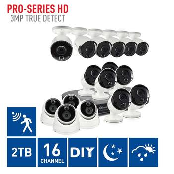 Swann DVR16-4780 16 Channel Digital Video Recorder with 12 x PRO-3MPMSB Bullet Cameras & 4 x PRO-3MPMSD Dome Cameras