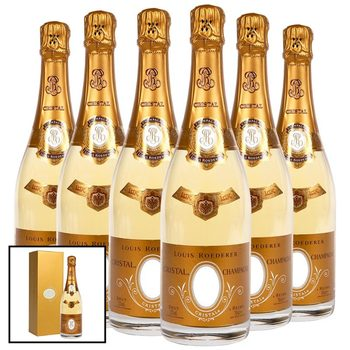 Louis Roederer Cristal Champagne 2009, 6 x 75cl with Gift Boxes