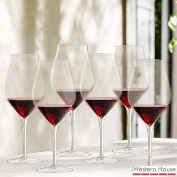 Luigi Bormioli Vinea Crystal Glass 550ml Red Wine Glasses, 6 Pack