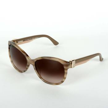 Salvatore Ferragamo Beige Sunglasses with Brown Lenses, SF651S-279