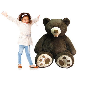 "Hugfun 53"" (134cm) Plush Sitting Bear (3+ Years) in 2 Colours"