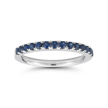 Gemstone Half Eternity Ring in 7 Colours