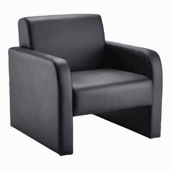 Arista Black Reception Chair Flat-Pack