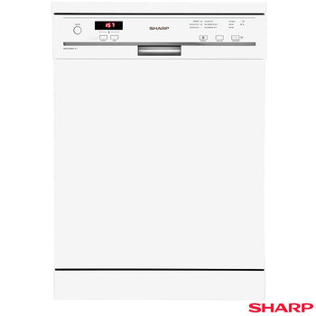 Sharp QW-GT13F492W Freestanding 60cm, 12 litre Dishwasher in White