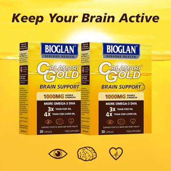 Bioglan Calamari Gold 1000mg, 2 x 30 Capsules (2 Months Supply)