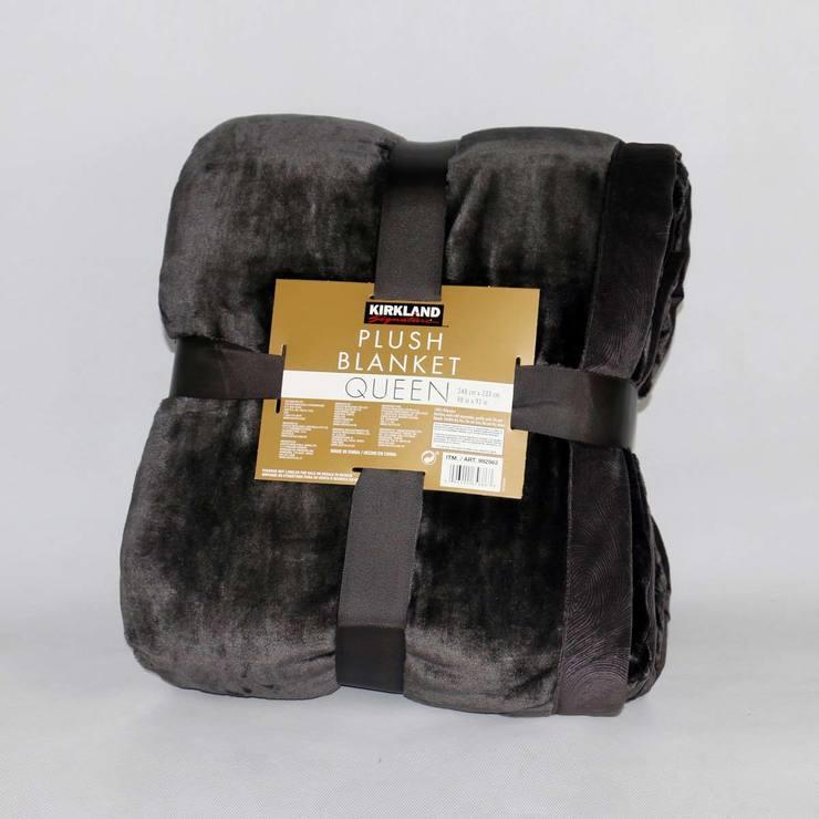 Kirkland Signature Plush Blanket In Charcoal Costco UK Classy Soft Throw Blanket Costco