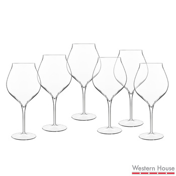 Luigi Bormioli Vinea Crystal Glass 800ml Wine Goblets, 6 Pack