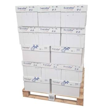 Everyday Copy A3 80gsm White Pallet of Paper - 80,000 sheets