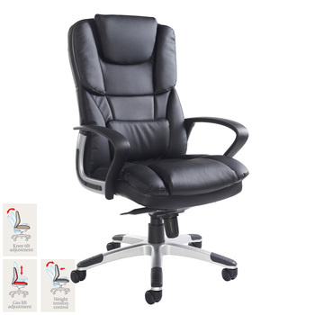 Palermo Leather Faced Executive Chair in Black