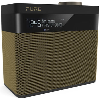 Pure Pop Maxi S Digital DAB+/FM Radio with Bluetooth in Gold