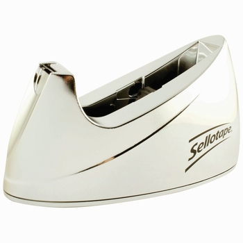 Sellotape Large Chrome Desktop Tape Dispenser 575450