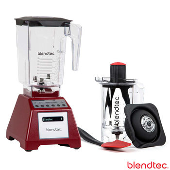 Blendtec Total Blender with Wildside+ Jar and Twister Jar in Red
