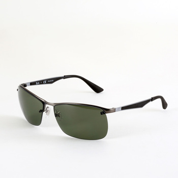 Rayban Black Sunglasses with Grey Lenses, 3550 029/9a