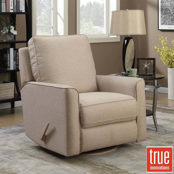 True Innovations Weston Fabric Swivel Recliner Chair