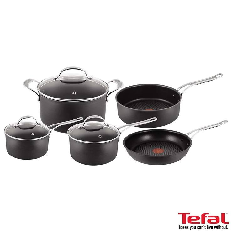jamie oliver by tefal hard anodised induction 5 piece cookware set costco uk. Black Bedroom Furniture Sets. Home Design Ideas