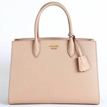 24e66aca30bef7 Prada Women's Beige Pink Handbag