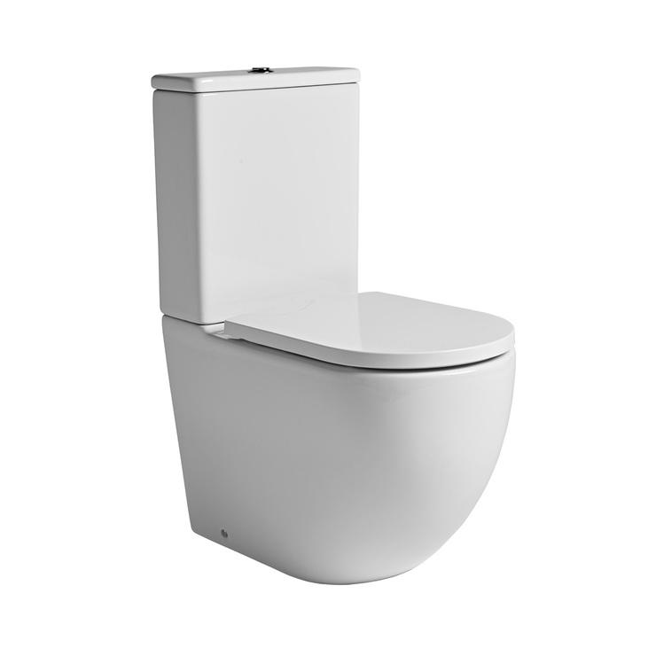 Tavistock Orbit Rimless Close Coupled Toilet With Soft