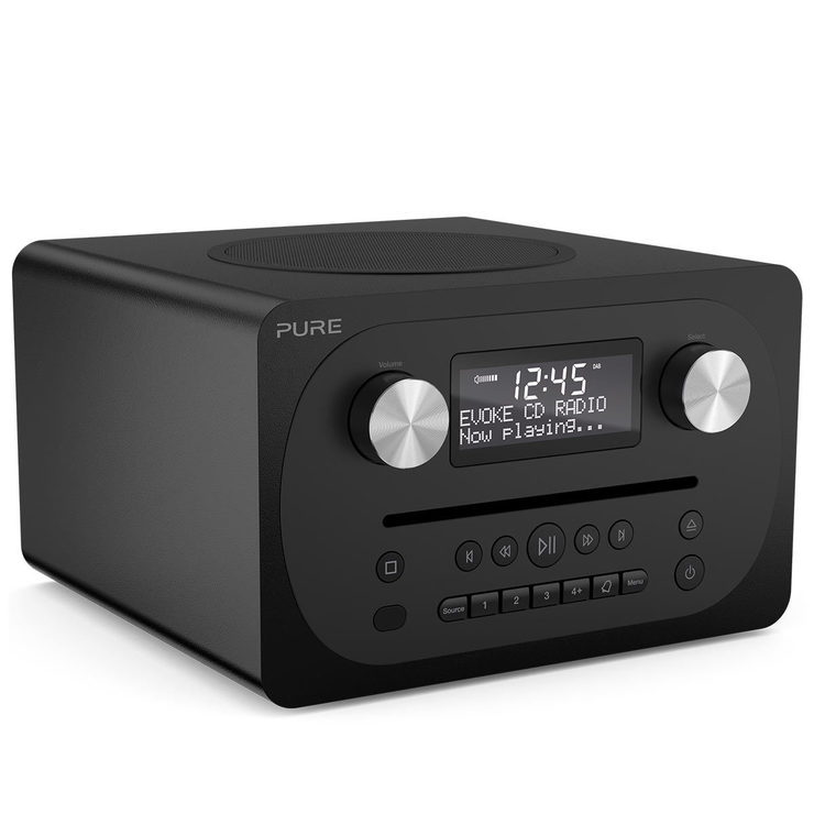 pure evoke c d4 dab fm radio with cd player and bluetooth. Black Bedroom Furniture Sets. Home Design Ideas