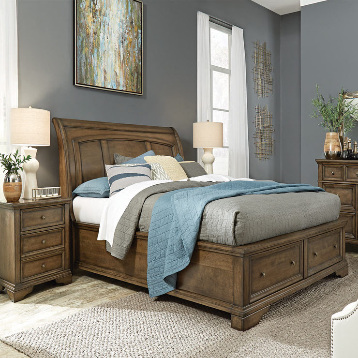 Samson Pilar King Size Bed Frame 2 Nightstands Bedroom Collections Bedroom Furniture