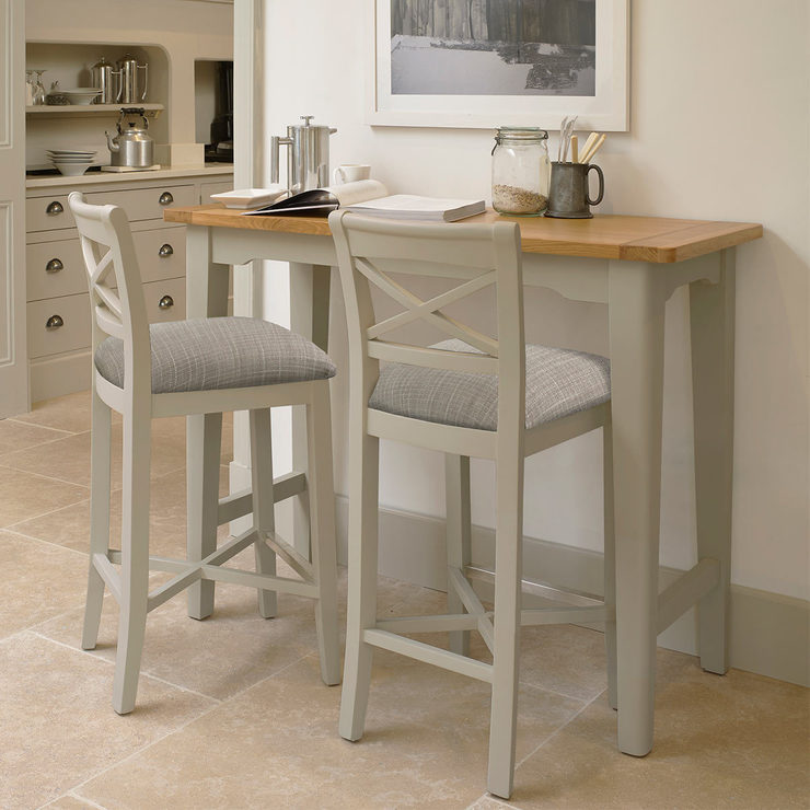 Pleasing Bordeaux Painted Light Grey Cross Back Bar Stools 2 Pack Costco Uk Uwap Interior Chair Design Uwaporg