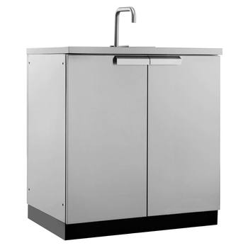 NewAge Outdoor Kitchen 18 Gauge Stainless Steel Sink Cabinet