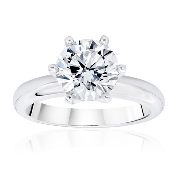 2.00ct Round Brilliant Cut Solitaire Diamond Ring Platinum