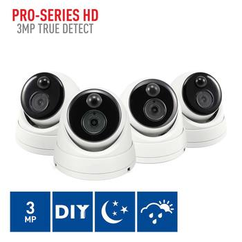 Swann PRO-3MPMSD 3MP PIR Dome Cameras Quad Pack