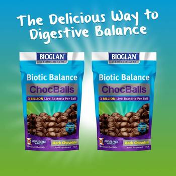 Bioglan Biotic Balance Dark Chocolate ChocBalls, 2 x 30ct (1 Month Supply)