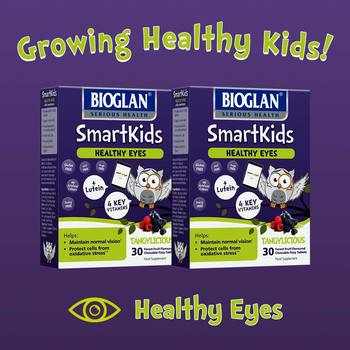 Bioglan SmartKids Healthy Eyes, 2 x 30 Tablets (4+ Years) (2 Months Supply)