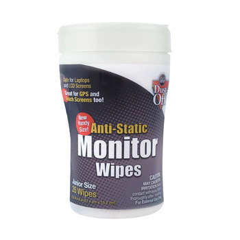 Falcon Dust-off Anti-static Foil Wrapped Monitor Wipes Office Pack