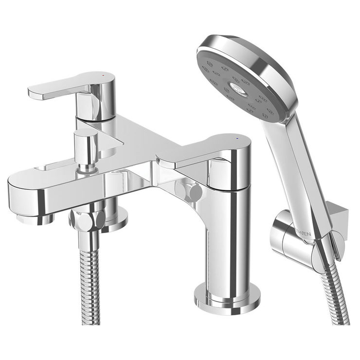 Methven Cari Bath Tap and Shower Head Mixer Set - Model CABSMCPUK ...