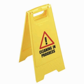 Contico Yellow Folding Safety Sign 'Caution Wet Floor'